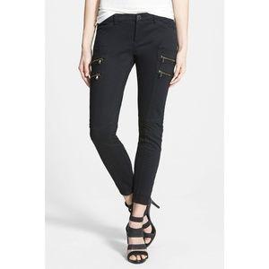 BLANKNYC Black Moto Zip Skinny Jeans